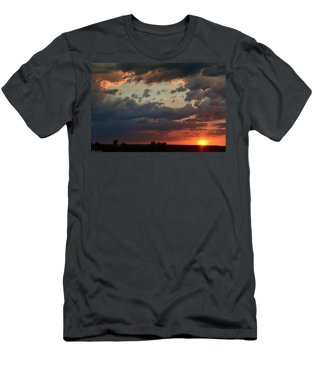Nature Men's T-Shirt (Athletic Fit) featuring the photograph Sunset After The Thunderstorm by Debbie Portwood