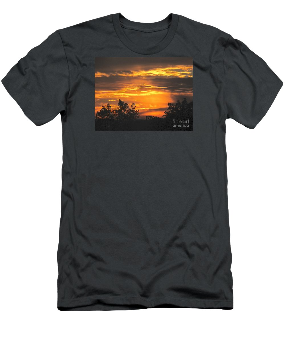 Sunset Men's T-Shirt (Athletic Fit) featuring the photograph Sunset by Jeannie Kohut
