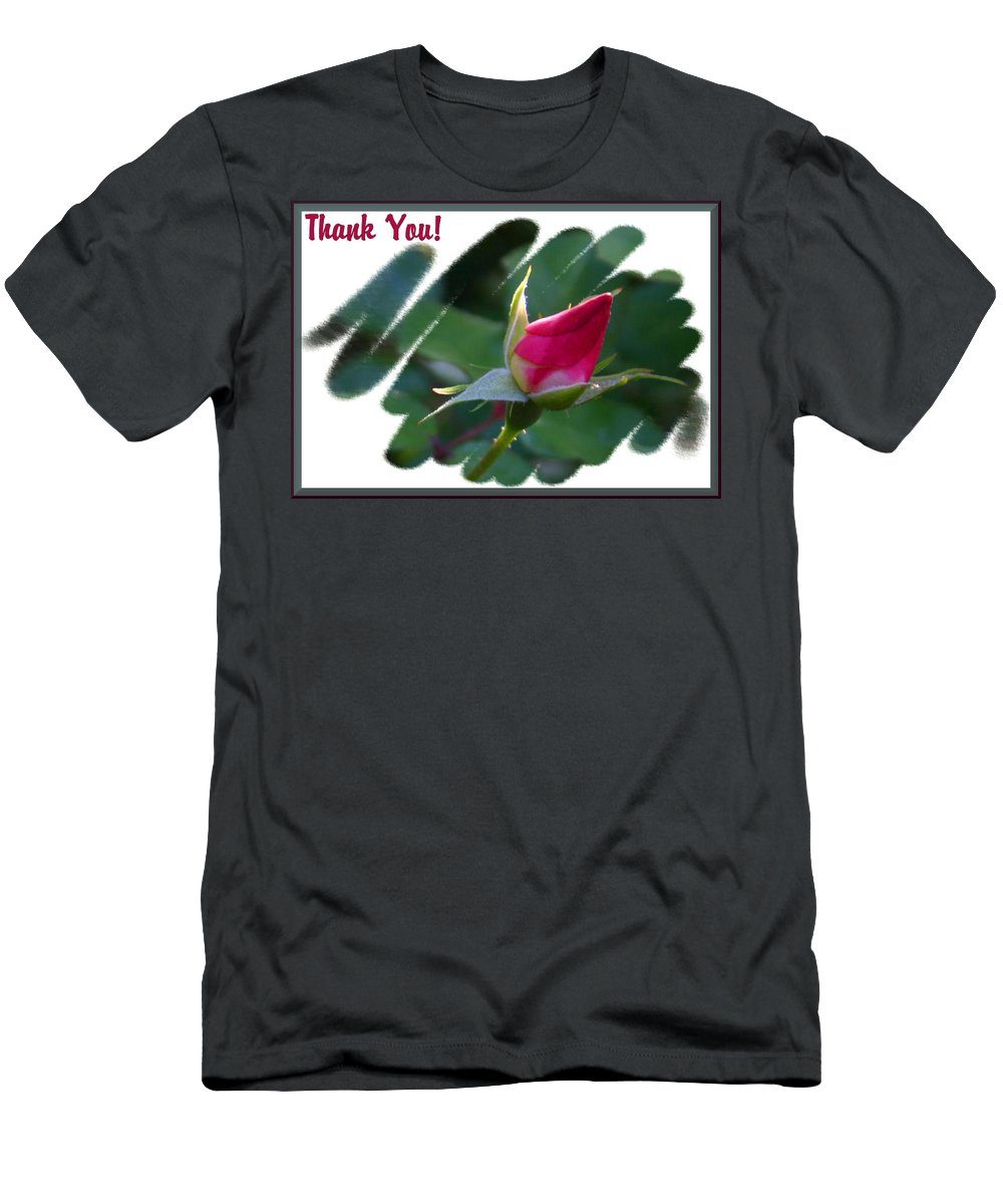 Rosebud Men's T-Shirt (Athletic Fit) featuring the photograph Thank You Bud by Kristin Elmquist