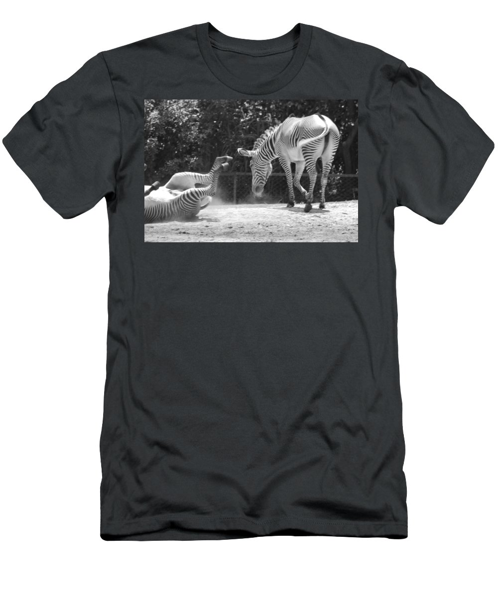Animal Men's T-Shirt (Athletic Fit) featuring the photograph The Back End In Black And White by Rob Hans