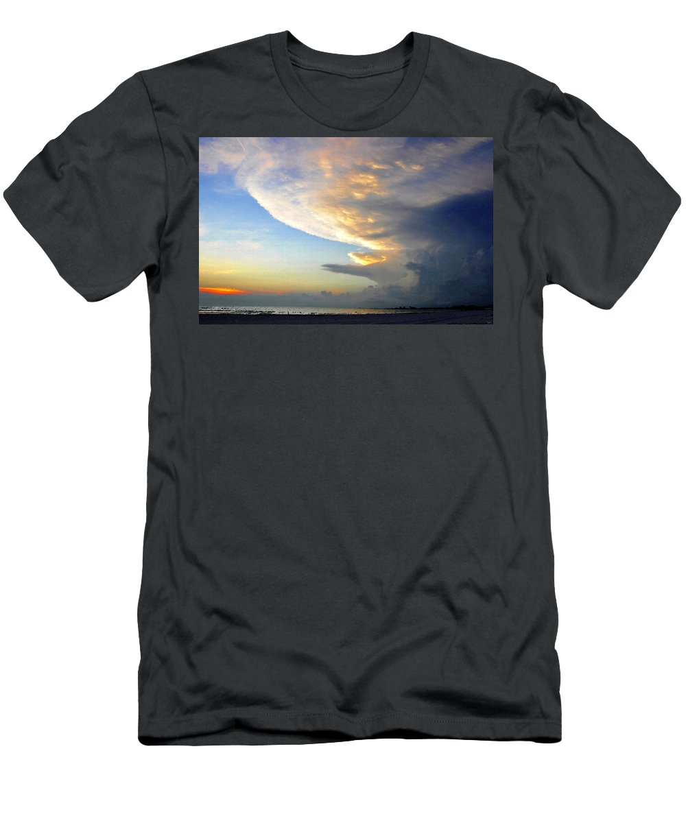 Art Men's T-Shirt (Athletic Fit) featuring the painting The Beach Walker by David Lee Thompson