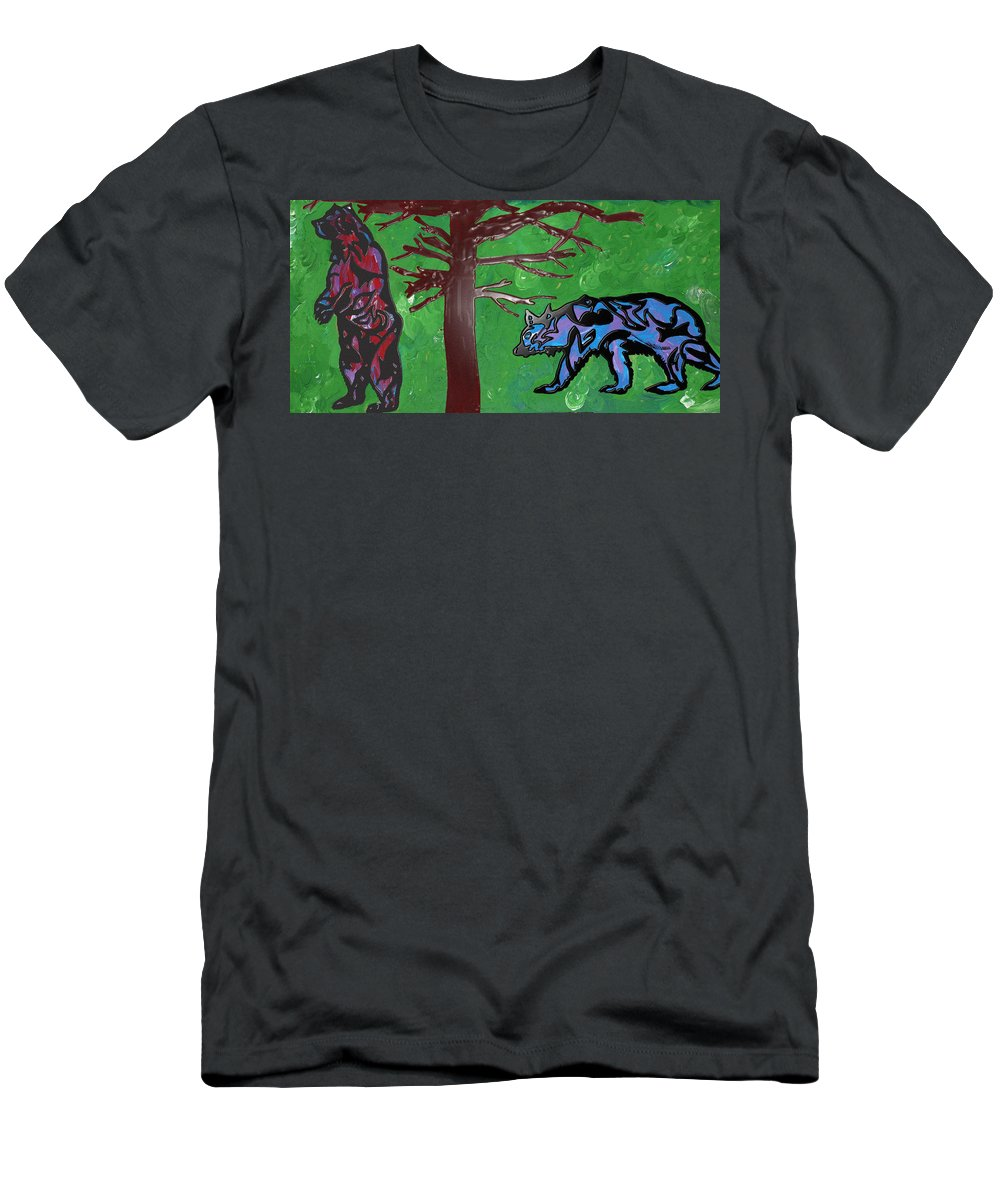 Bear Paintings Men's T-Shirt (Athletic Fit) featuring the drawing the bears of Canada by Robert Margetts