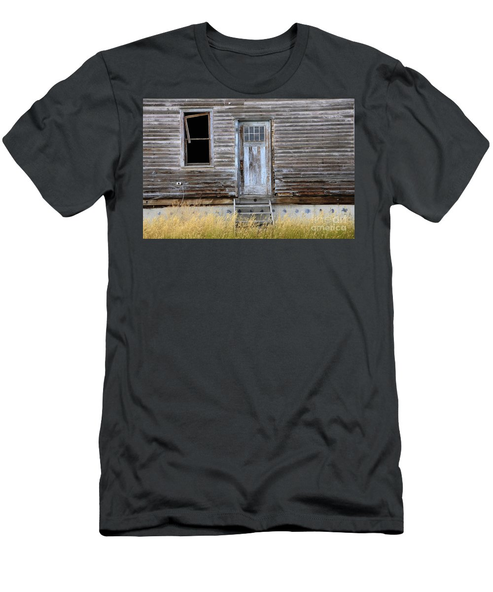 Door Men's T-Shirt (Athletic Fit) featuring the photograph The Blue Door by Bob Christopher