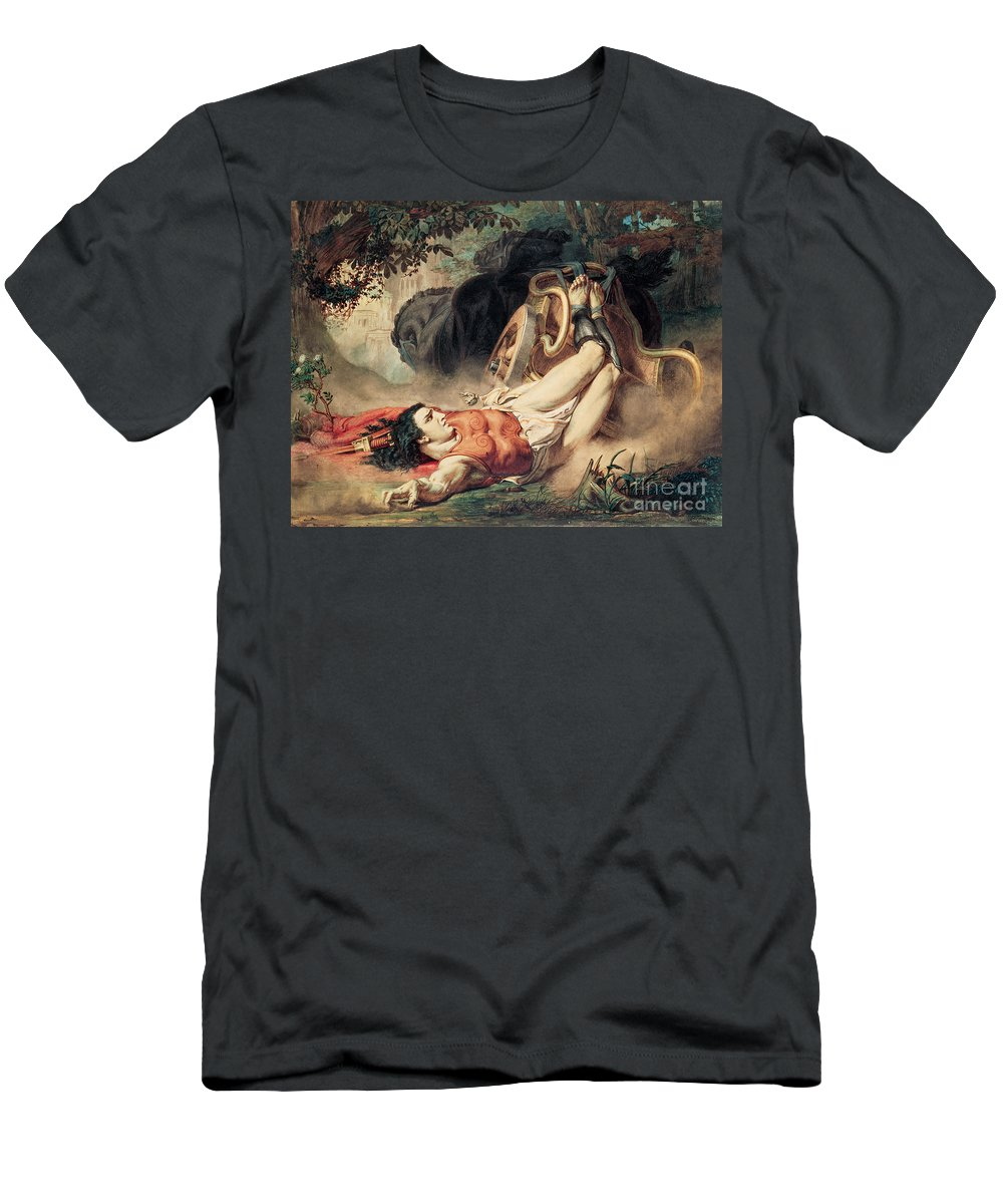 The Men's T-Shirt (Athletic Fit) featuring the painting The Death Of Hippolyte by Sir Lawrence Alma-Tadema
