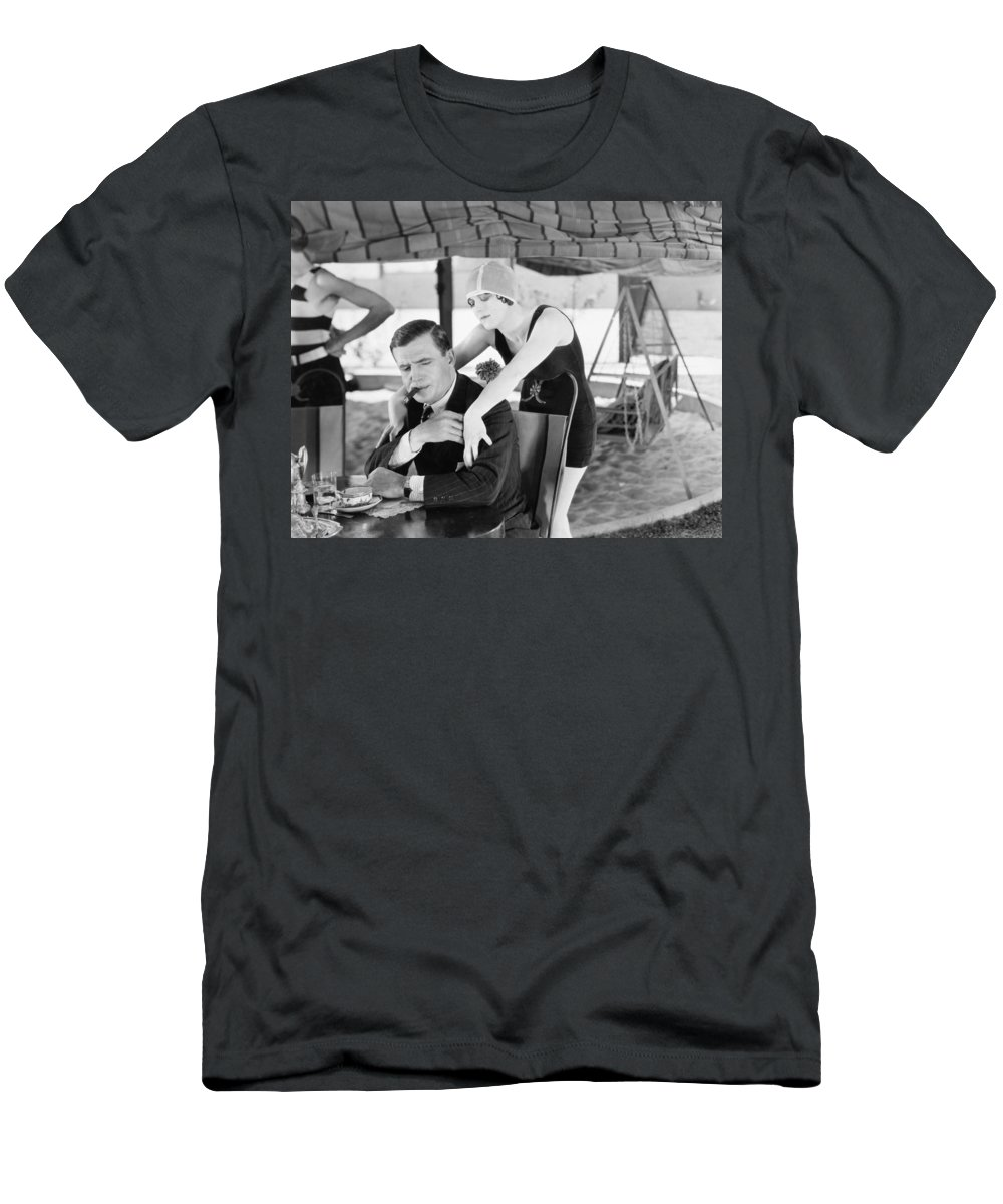 -eating & Drinking- Men's T-Shirt (Athletic Fit) featuring the photograph The Garden Of Weeds, 1924 by Granger