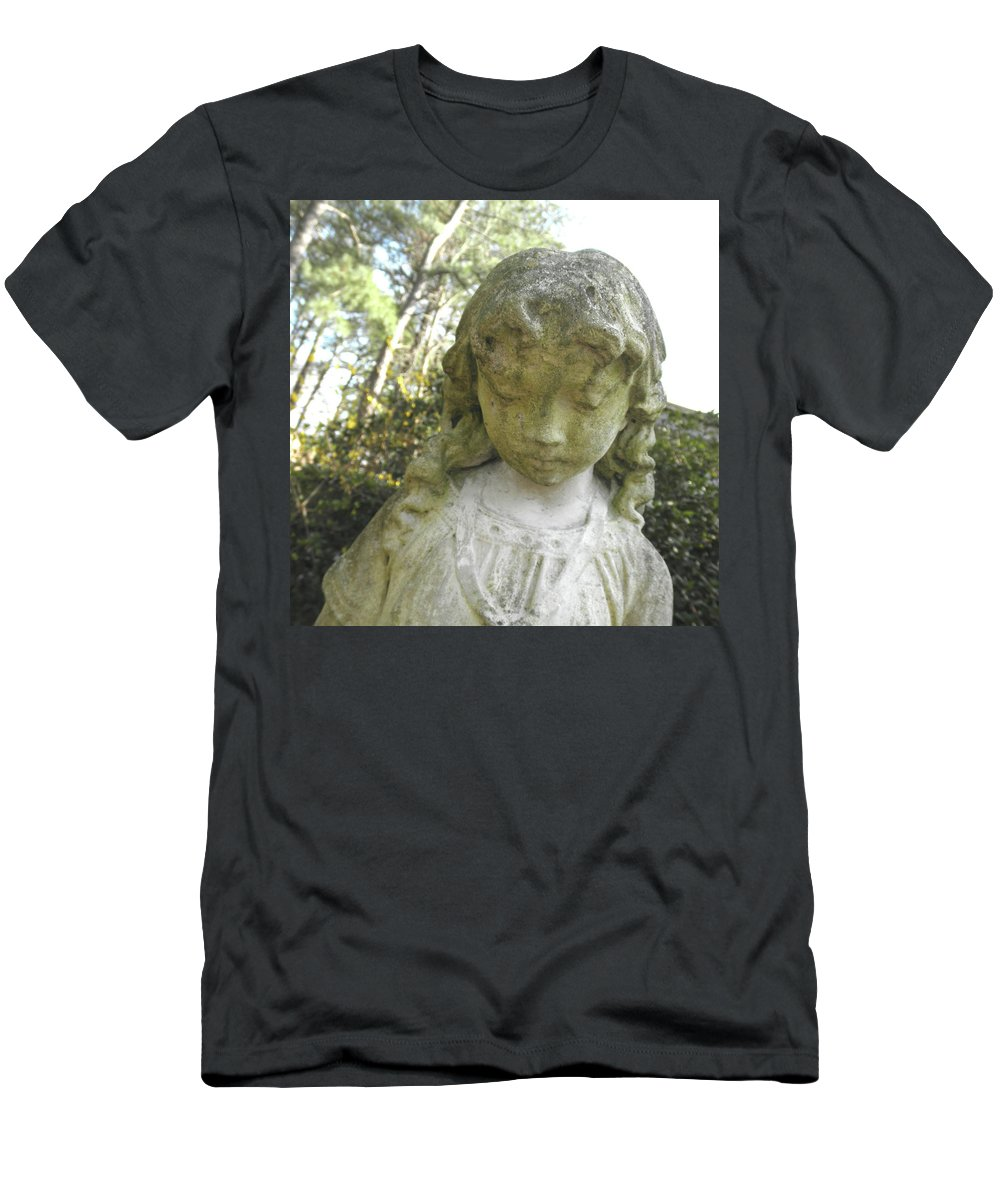 Sculpture Men's T-Shirt (Athletic Fit) featuring the photograph The Girl In My Backyard by Wayne Potrafka
