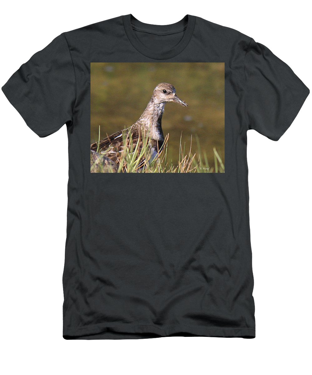 Roena King Men's T-Shirt (Athletic Fit) featuring the photograph The Good Stuff Is In The Mud by Roena King