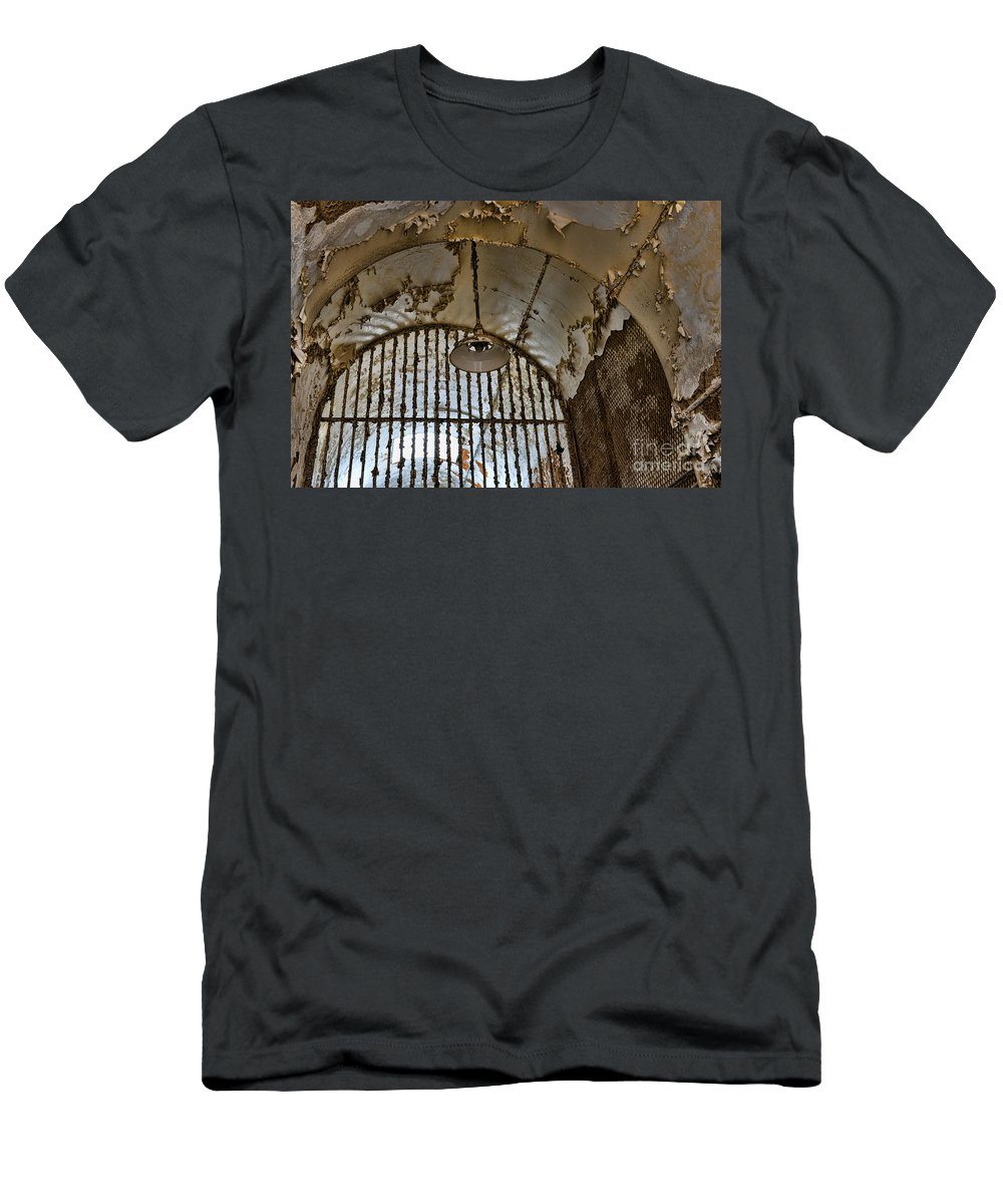 Light Fixture Men's T-Shirt (Athletic Fit) featuring the photograph The Light Fixture by Paul Ward