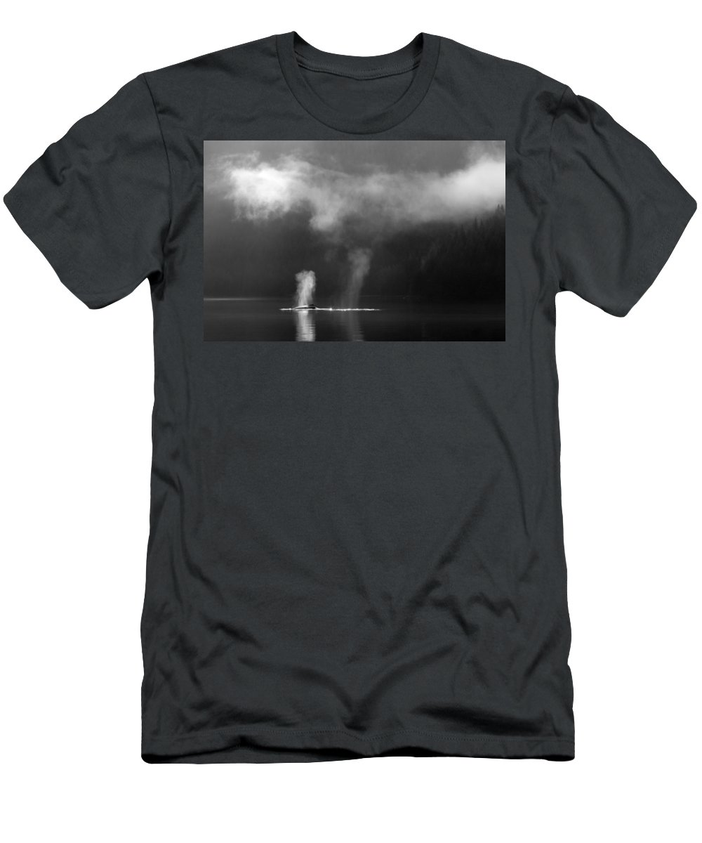 Whale Men's T-Shirt (Athletic Fit) featuring the photograph The Morning After by Max Waugh