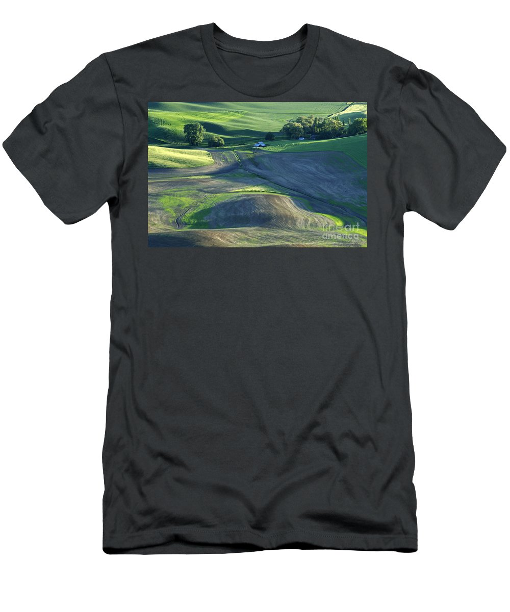 Palouse Men's T-Shirt (Athletic Fit) featuring the photograph The Palouse 3 by Bob Christopher