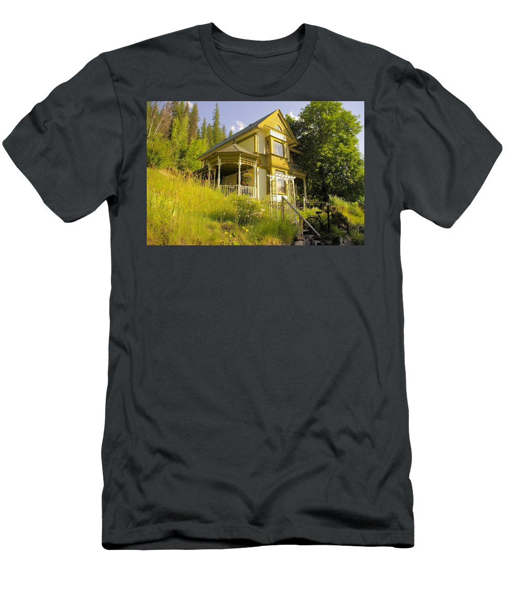 Rainbow Men's T-Shirt (Athletic Fit) featuring the photograph The Rainbow House by John Greaves