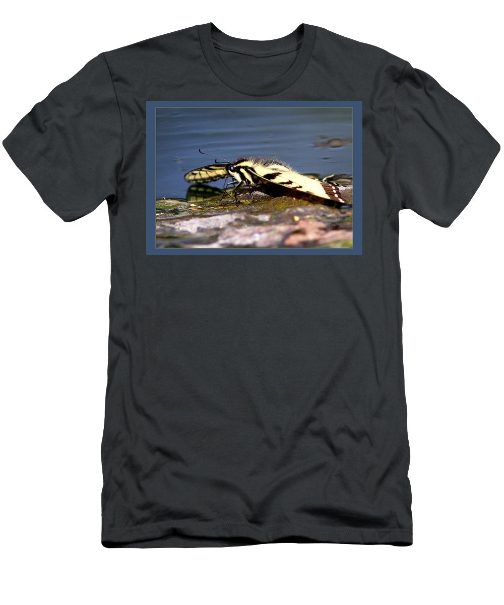 Tiger Swallowtail Butterfly Men's T-Shirt (Athletic Fit) featuring the photograph Tiger Swallowtail Butterfly by Travis Truelove