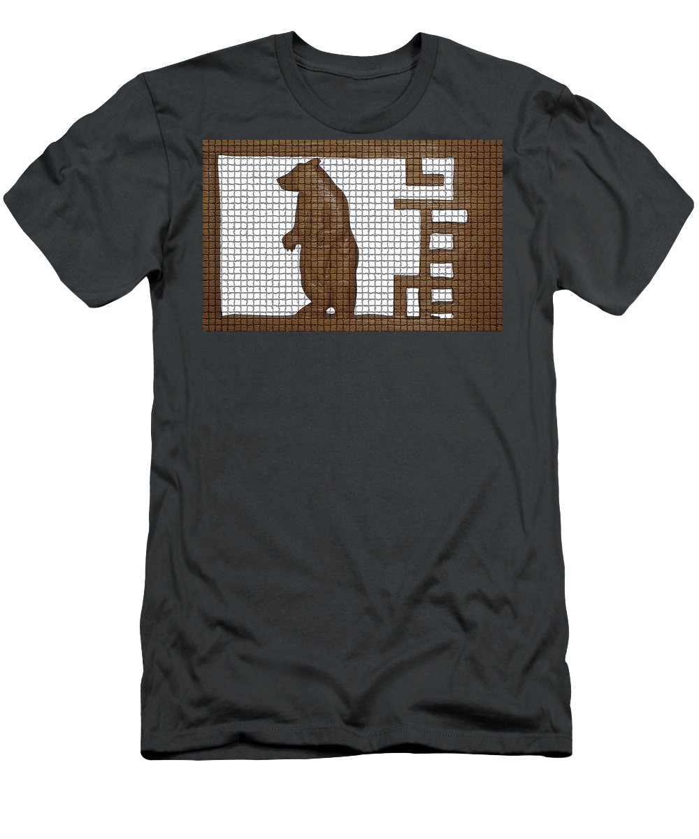 Bear Paintings Men's T-Shirt (Athletic Fit) featuring the photograph Tiled Bear by Robert Margetts