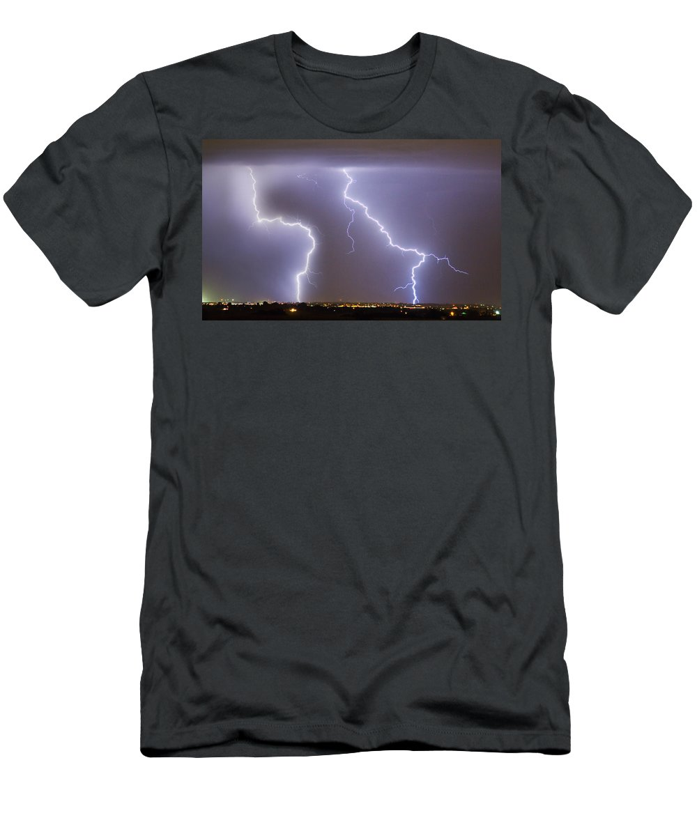james Insogna Men's T-Shirt (Athletic Fit) featuring the photograph To The Right Right To The Left Left by James BO Insogna