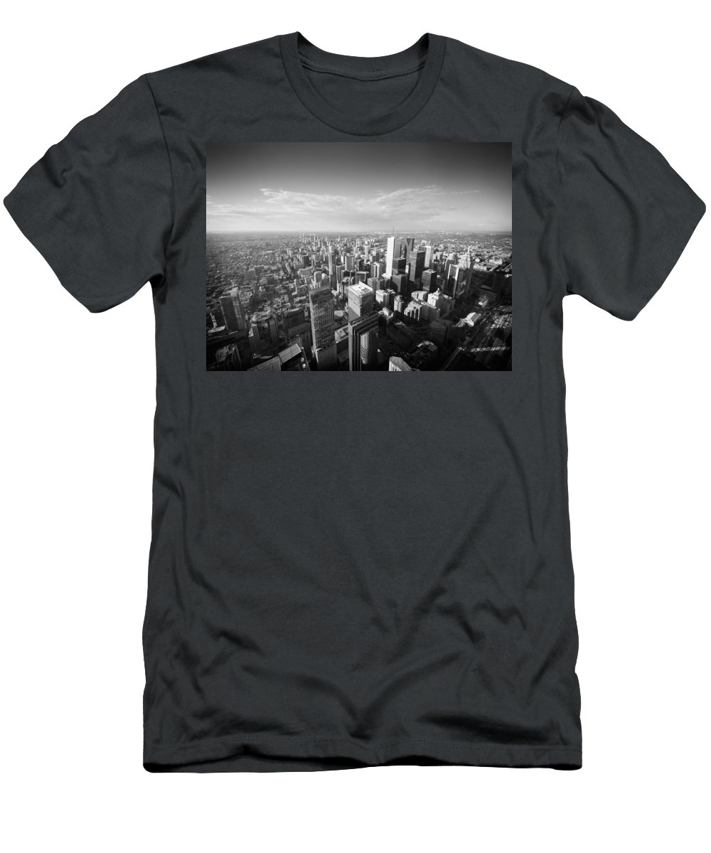 Toronto Men's T-Shirt (Athletic Fit) featuring the photograph Toronto From Above by Alexander Voss