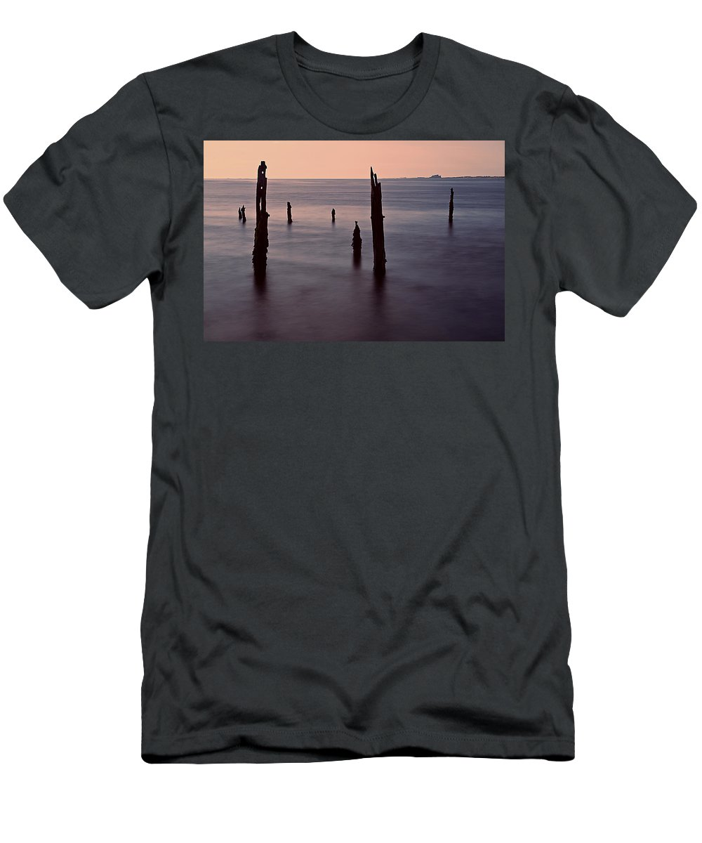 Lindisfarne Men's T-Shirt (Athletic Fit) featuring the photograph Tranquil Sea by David Pringle