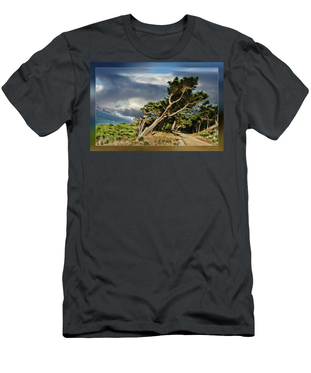 Art Photography Men's T-Shirt (Athletic Fit) featuring the photograph Tree Path Bridge by Blake Richards