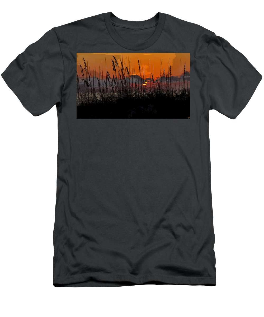 Art Men's T-Shirt (Athletic Fit) featuring the painting Tropical Evening by David Lee Thompson
