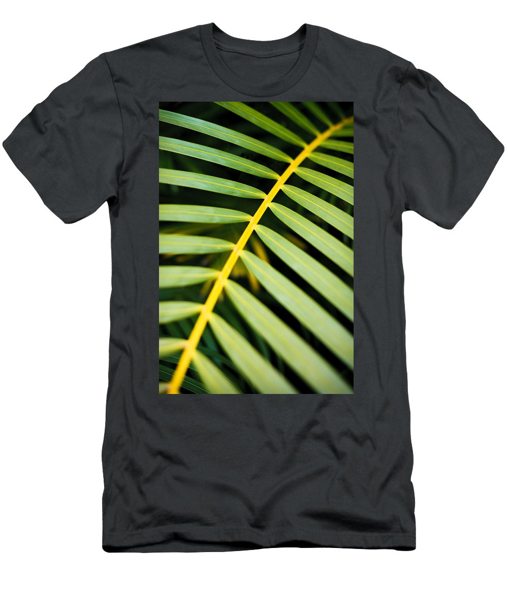 Beautiful Men's T-Shirt (Athletic Fit) featuring the photograph Tropical Palm Frond by MakenaStockMedia - Printscapes