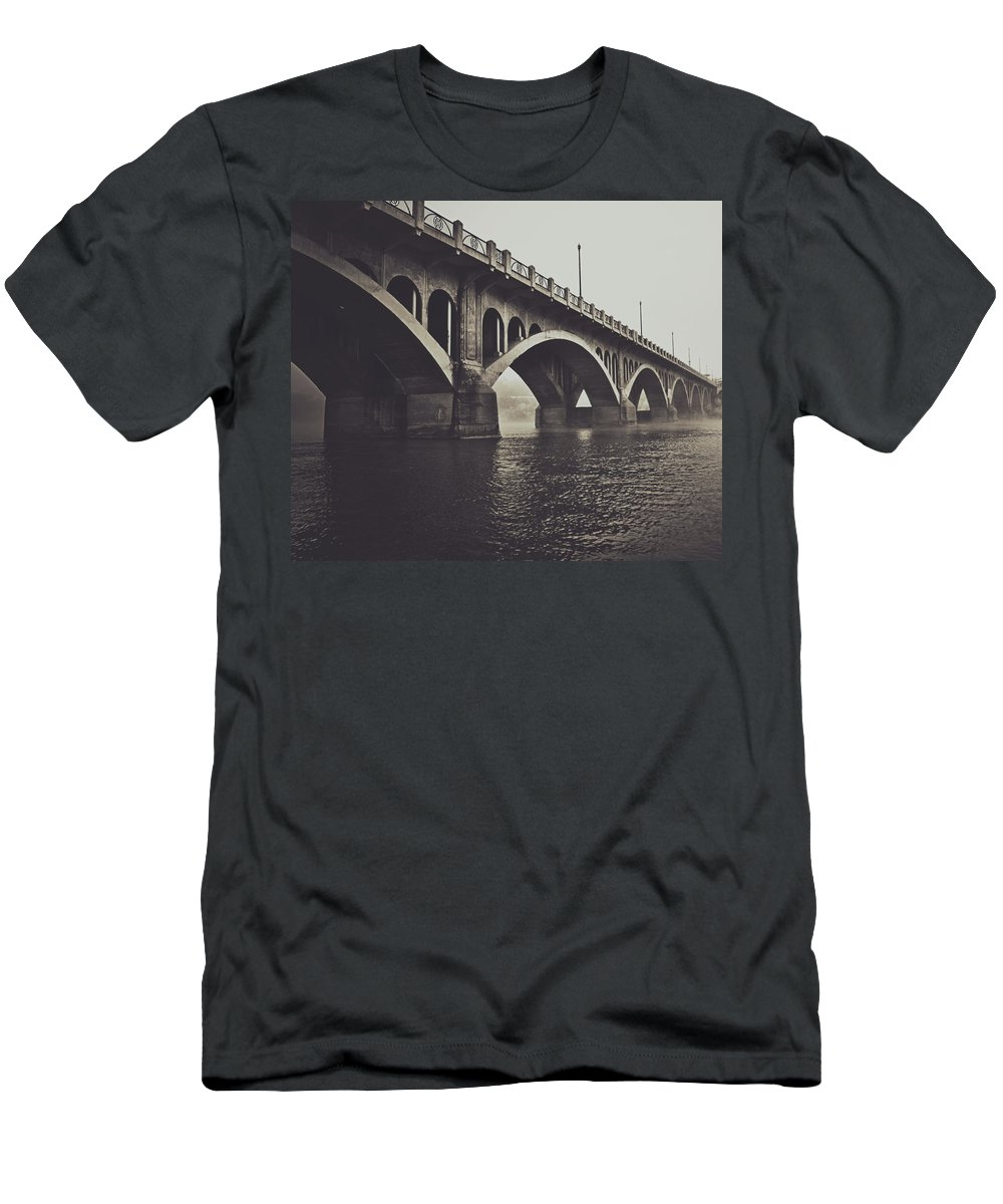 Rural Decay Men's T-Shirt (Athletic Fit) featuring the photograph Troubled Water by The Artist Project