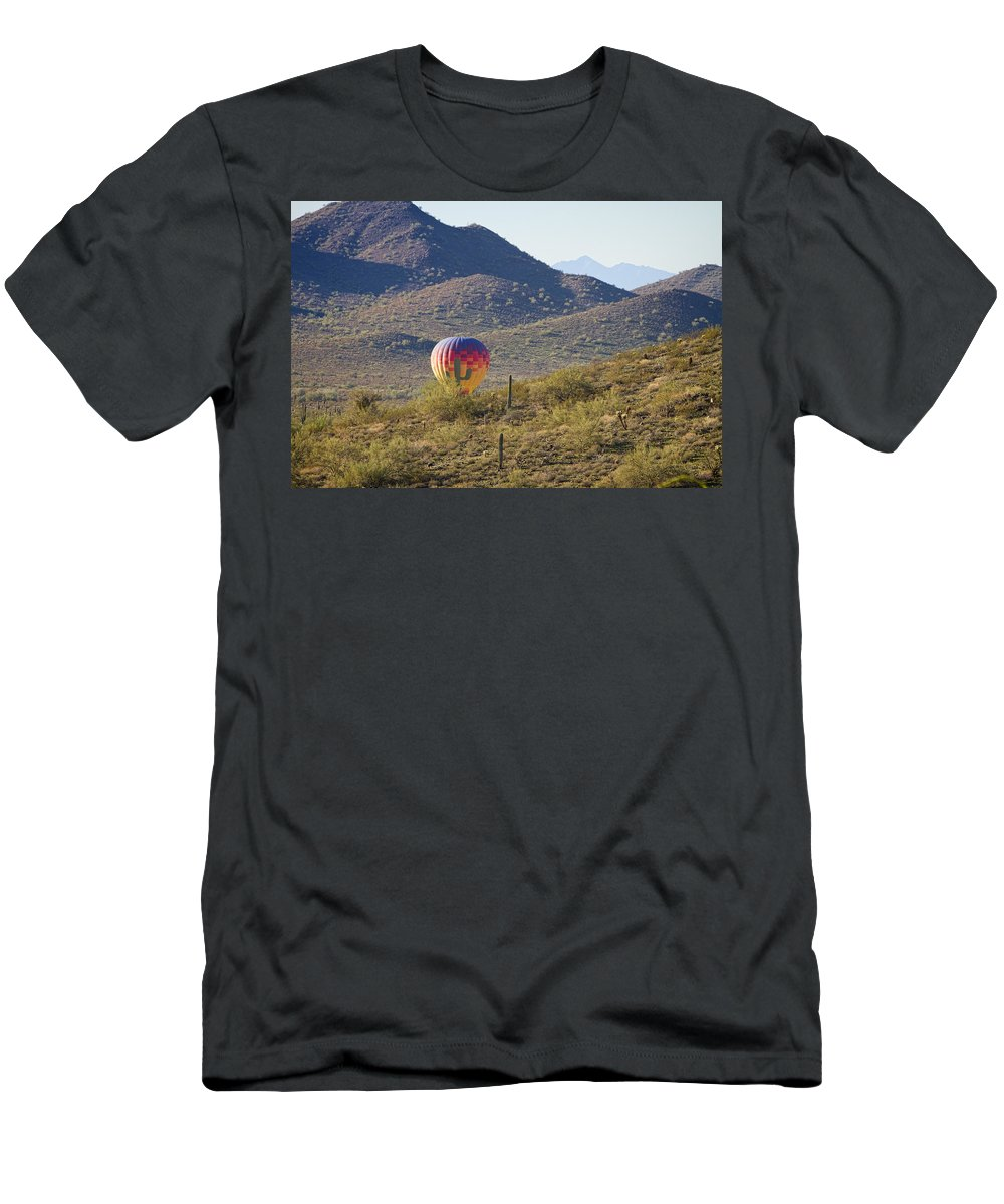 Balloon Men's T-Shirt (Athletic Fit) featuring the photograph Trying To Blend In by James BO Insogna