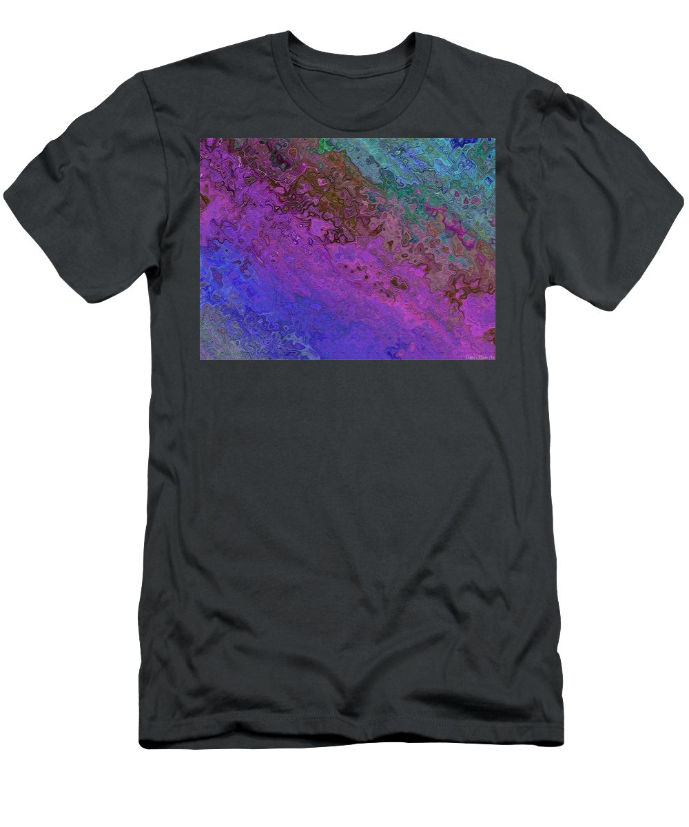 Abstract Men's T-Shirt (Athletic Fit) featuring the digital art Twilight Hour by Debbie Portwood