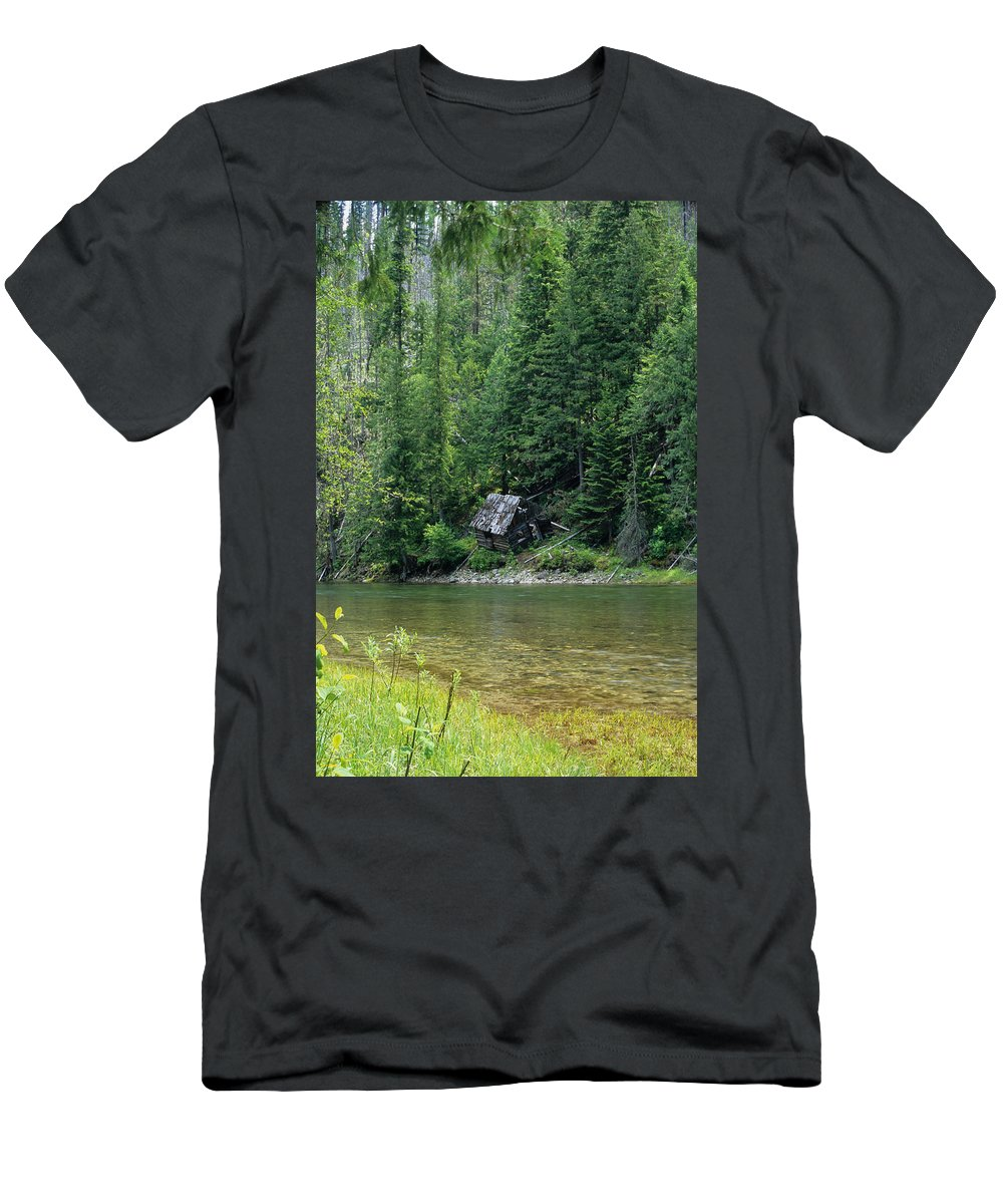Forest Men's T-Shirt (Athletic Fit) featuring the photograph Unstable Living by One Rude Dawg Orcutt