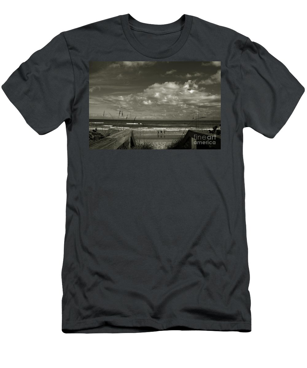 Beach Men's T-Shirt (Athletic Fit) featuring the photograph Vamos A La Playa by Susanne Van Hulst