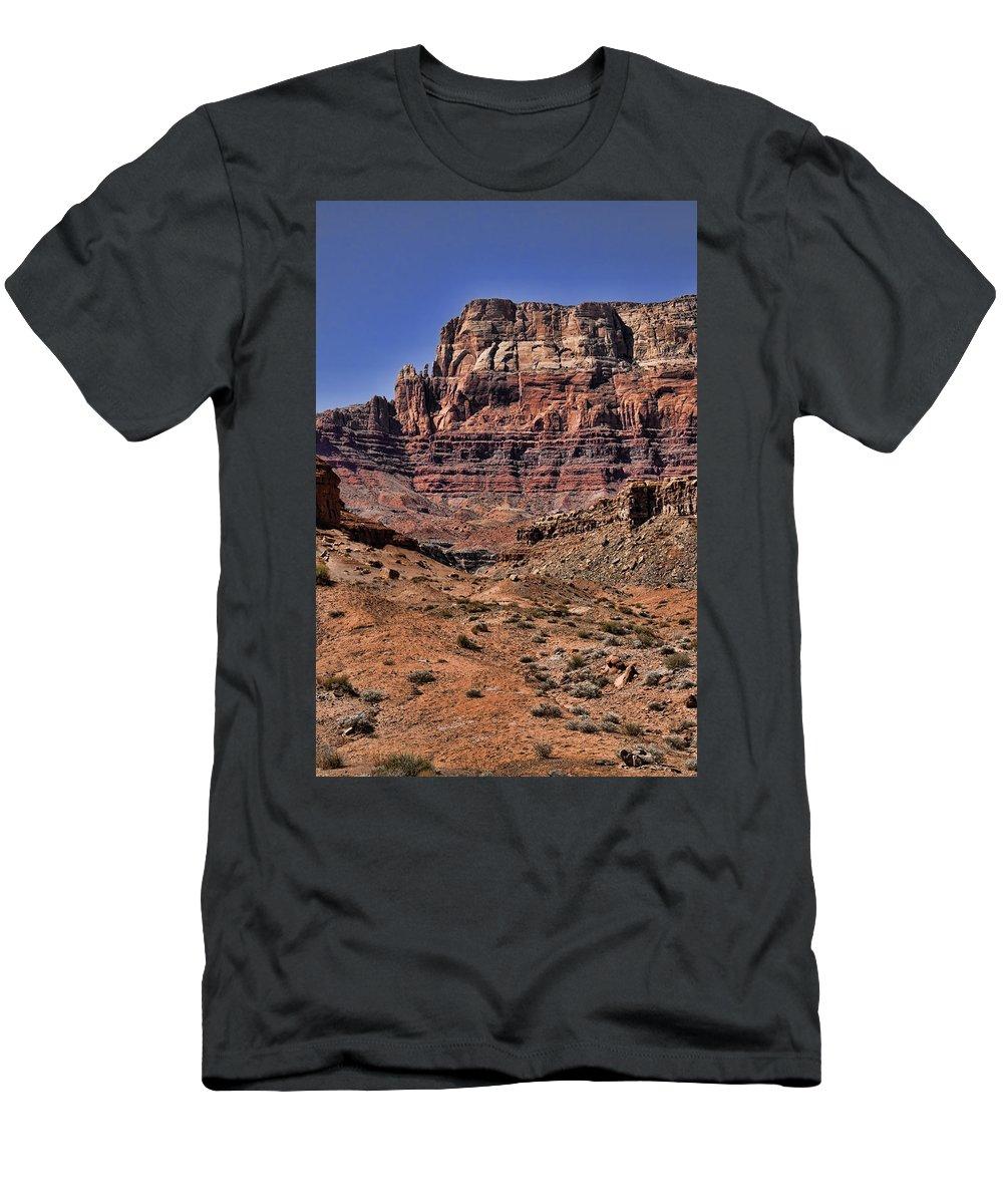 Vermilion Cliffs Men's T-Shirt (Athletic Fit) featuring the photograph Vermilion Cliffs Arizona by Jon Berghoff