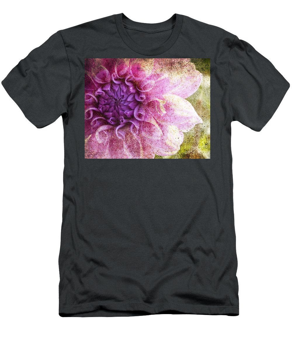 Flower Distressed Men's T-Shirt (Athletic Fit) featuring the photograph Victorian Thoughts 2 by Traci Cottingham
