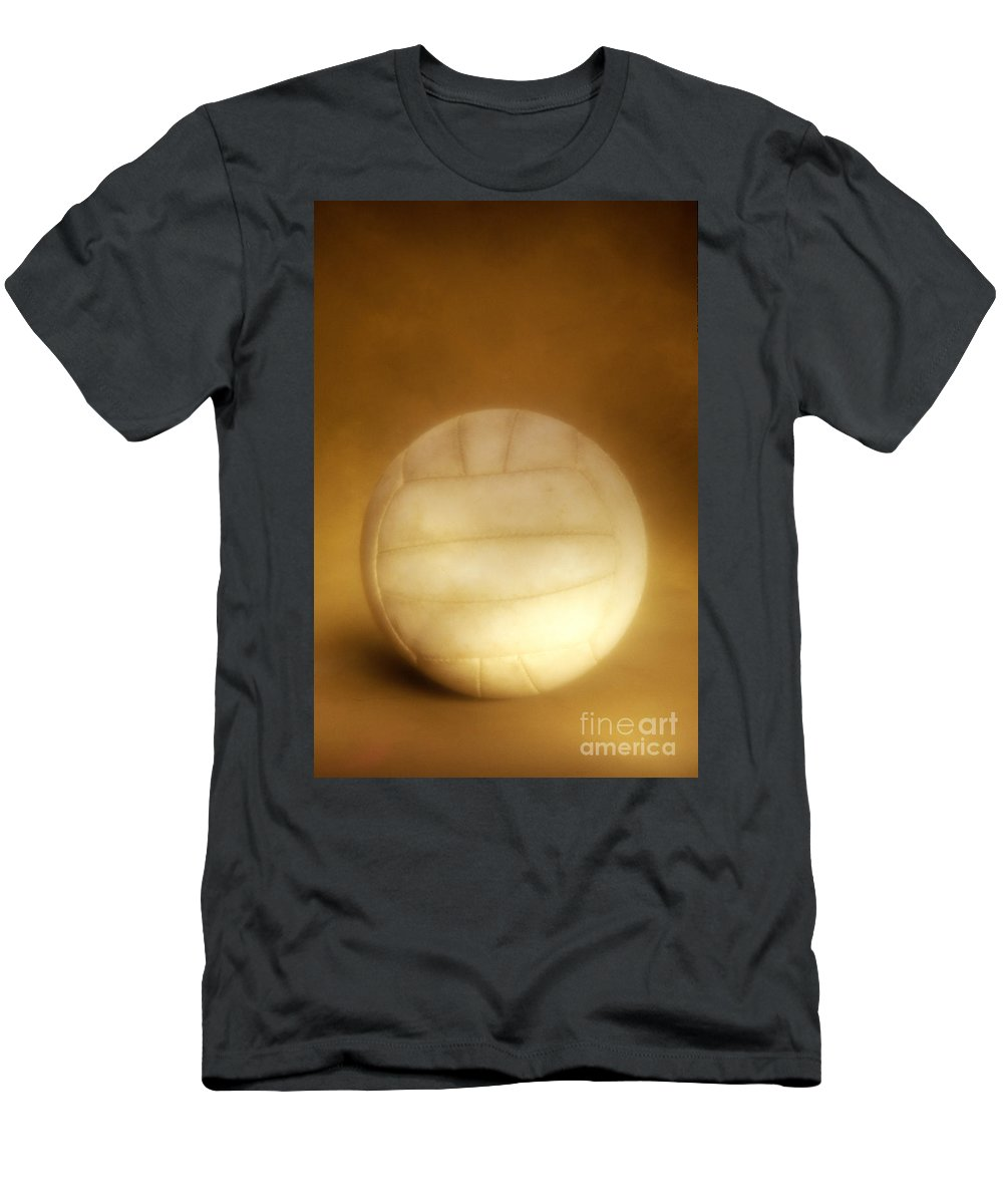 Compete Men's T-Shirt (Athletic Fit) featuring the photograph Vintage Soccer Ball by John Greim