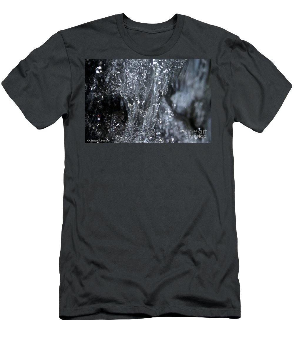 Water Men's T-Shirt (Athletic Fit) featuring the photograph Water Abstract by Susan Herber