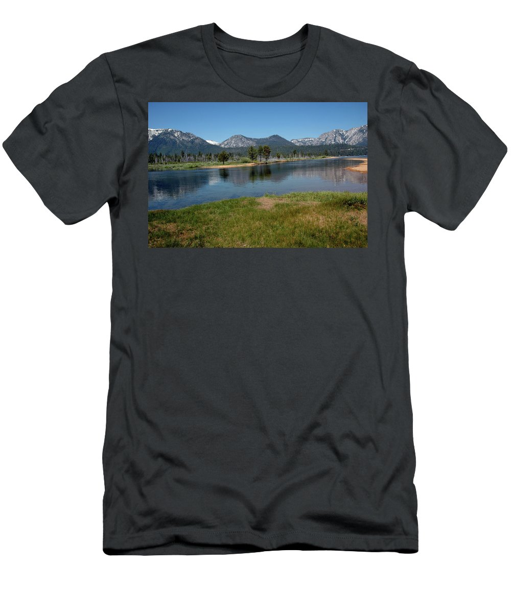 Usa Men's T-Shirt (Athletic Fit) featuring the photograph Waters Lead To Lake Tahoe by LeeAnn McLaneGoetz McLaneGoetzStudioLLCcom