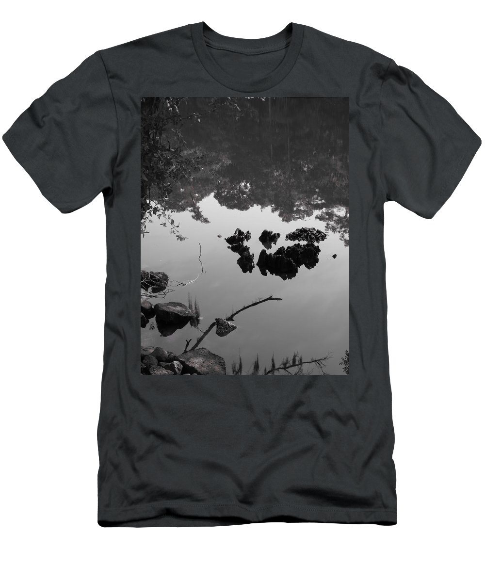 Water Men's T-Shirt (Athletic Fit) featuring the photograph Watery Reflections by Michele Nelson