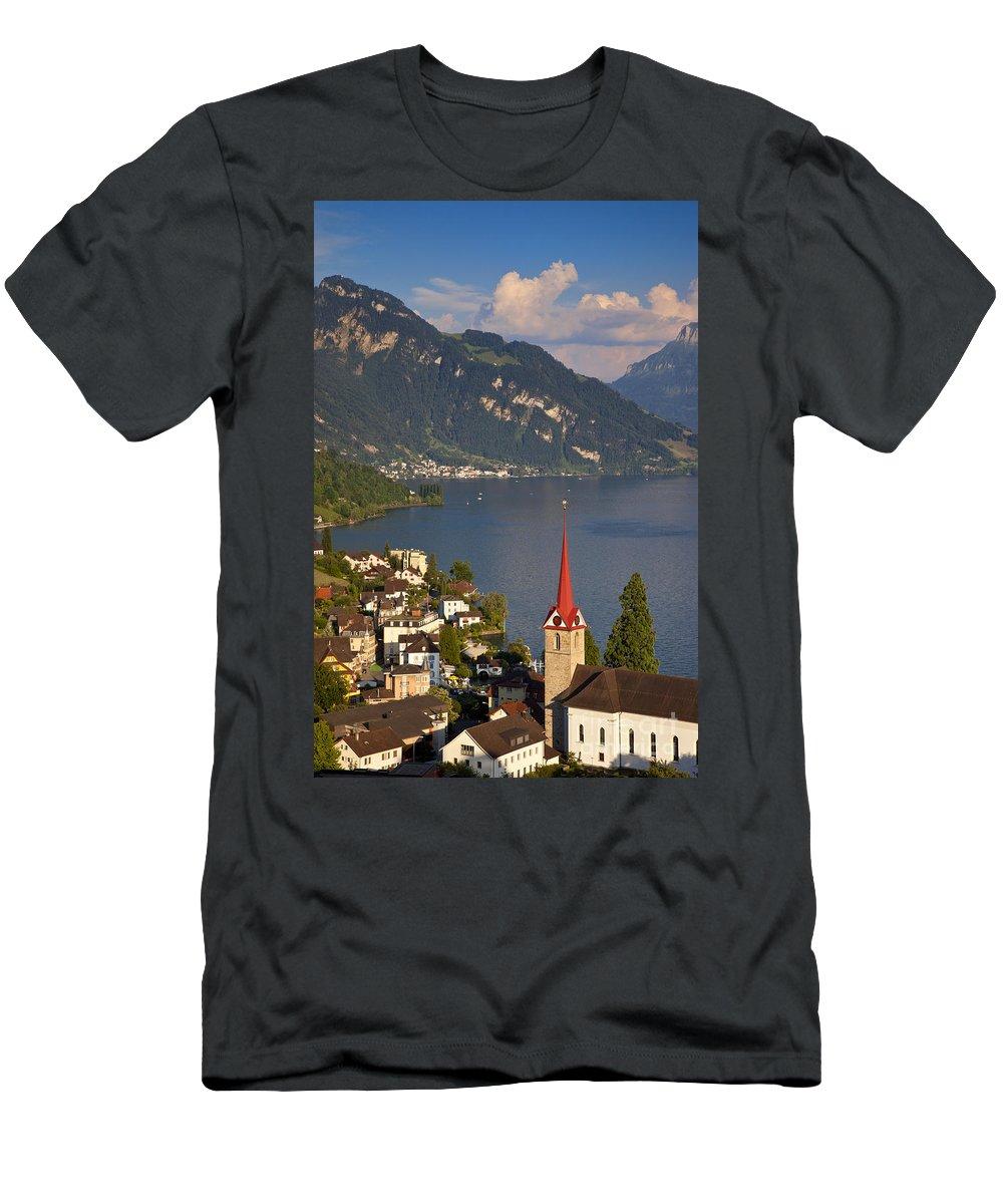 Saint Men's T-Shirt (Athletic Fit) featuring the photograph Weggis Switzerland by Brian Jannsen