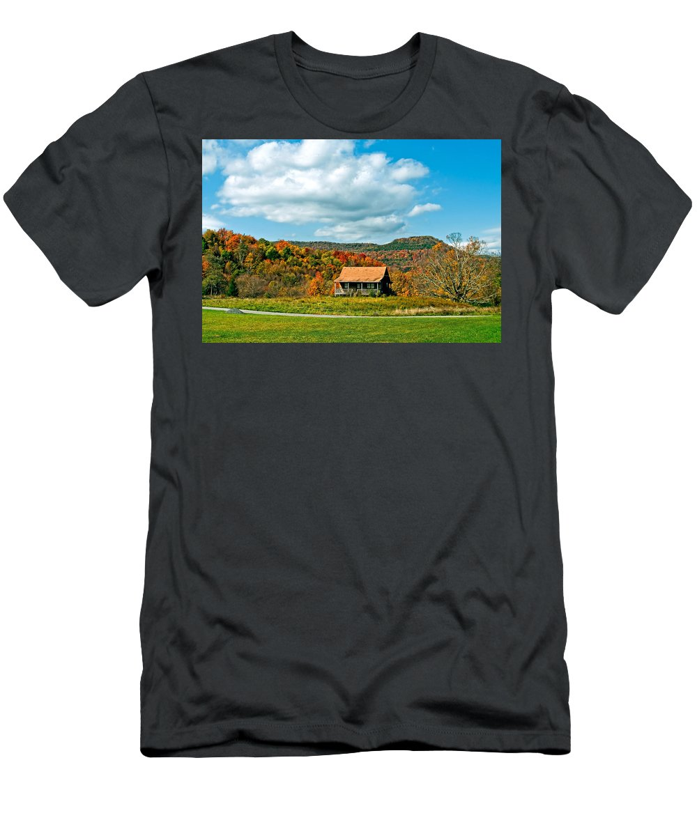 West Virginia Men's T-Shirt (Athletic Fit) featuring the photograph West Virginia Homestead by Steve Harrington