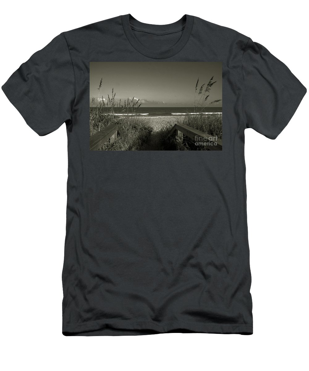 Beach Men's T-Shirt (Athletic Fit) featuring the photograph What A Day by Susanne Van Hulst