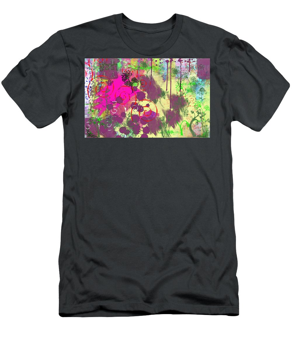 Paint Men's T-Shirt (Athletic Fit) featuring the digital art What A Mess by Debbie Portwood