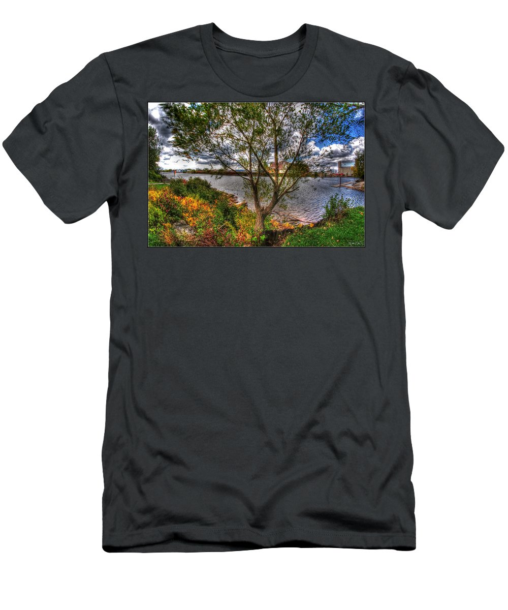 Men's T-Shirt (Athletic Fit) featuring the photograph When The Wind Whistles by Michael Frank Jr