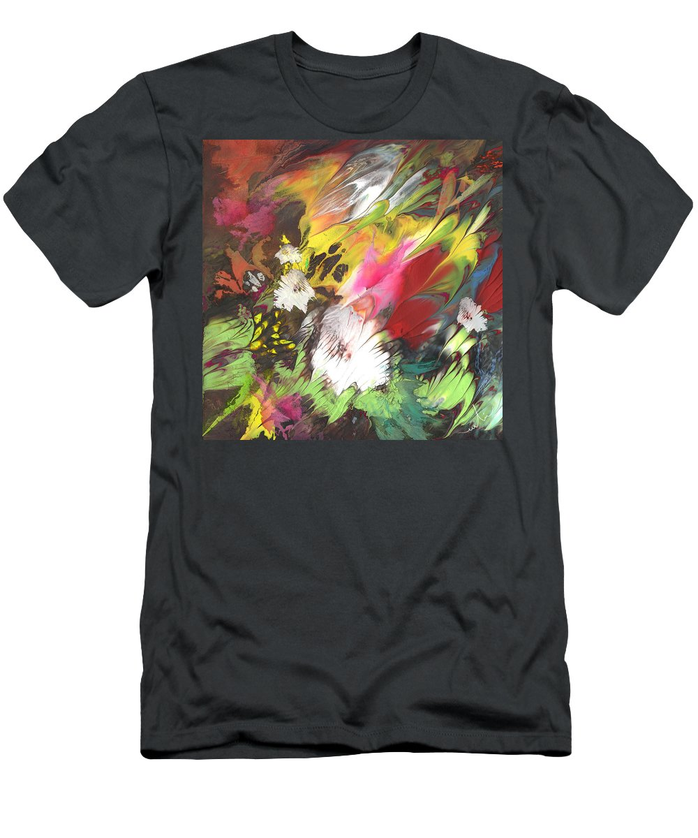 Flowers Men's T-Shirt (Athletic Fit) featuring the painting Wild Flowers 04 by Miki De Goodaboom