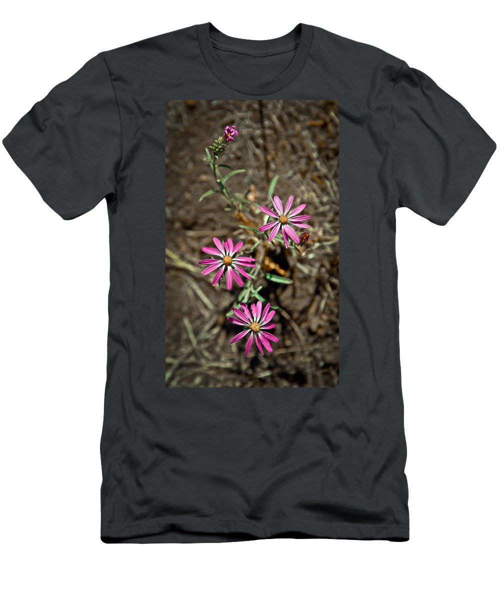 Flowers Men's T-Shirt (Athletic Fit) featuring the photograph Wild Flowers by Steve McKinzie