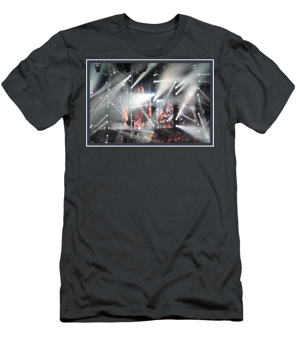 Lights Men's T-Shirt (Athletic Fit) featuring the photograph Wild Keith Urban by Sheri Bartoszek