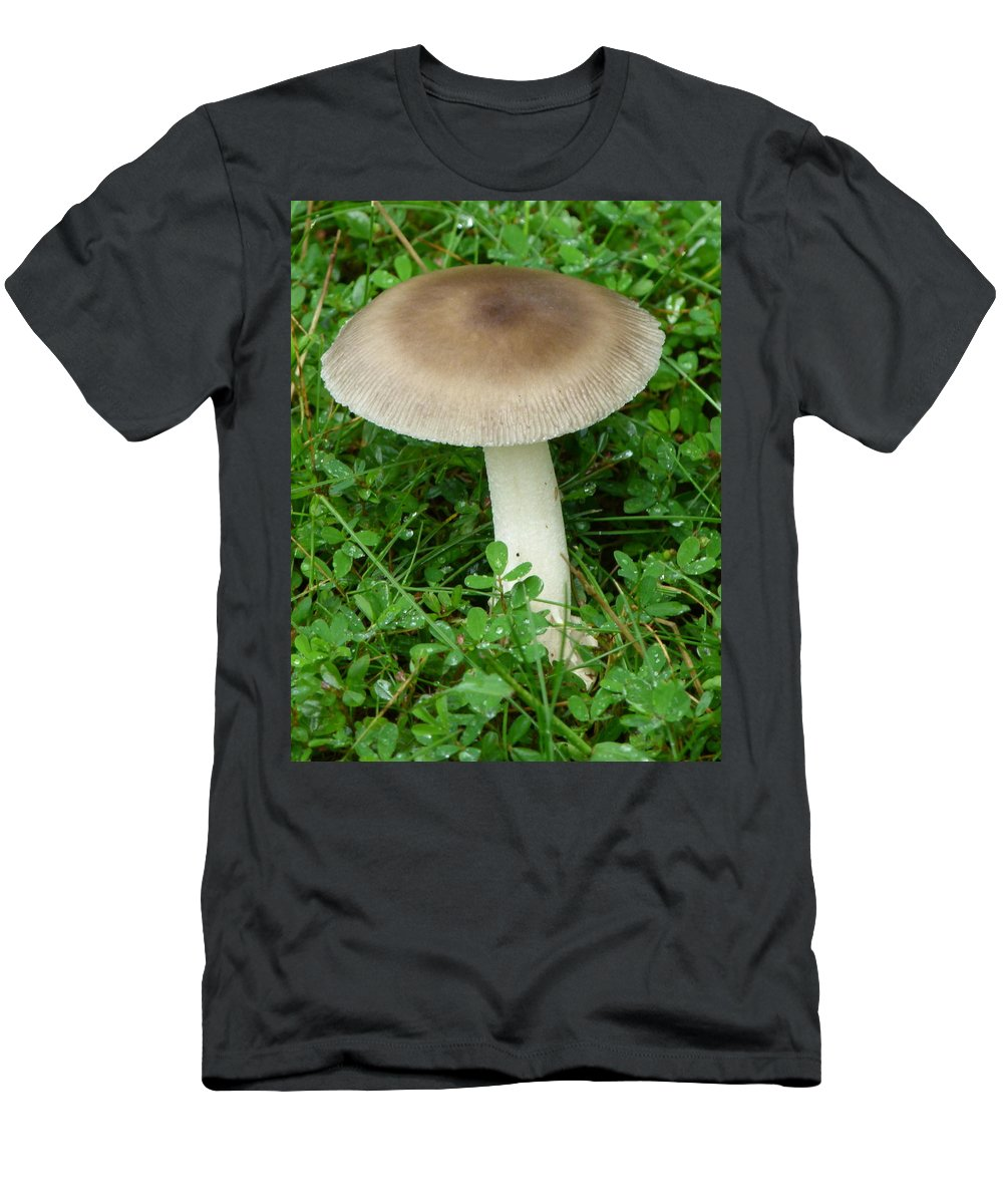 Mushroom Men's T-Shirt (Athletic Fit) featuring the photograph Wild Mushroom by Richard Bryce and Family