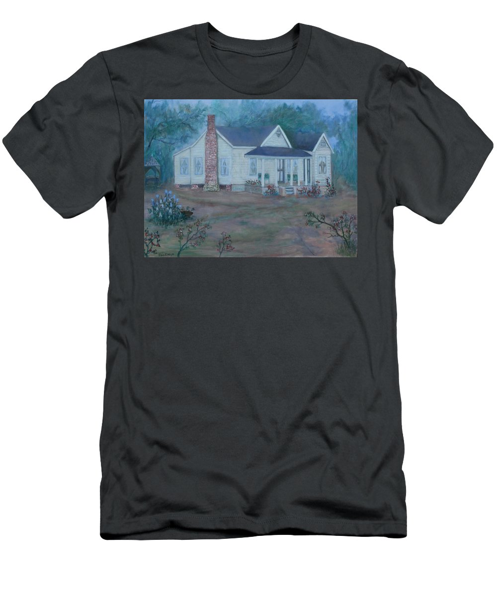 Landscape T-Shirt featuring the painting Wilson Homestead by Ben Kiger