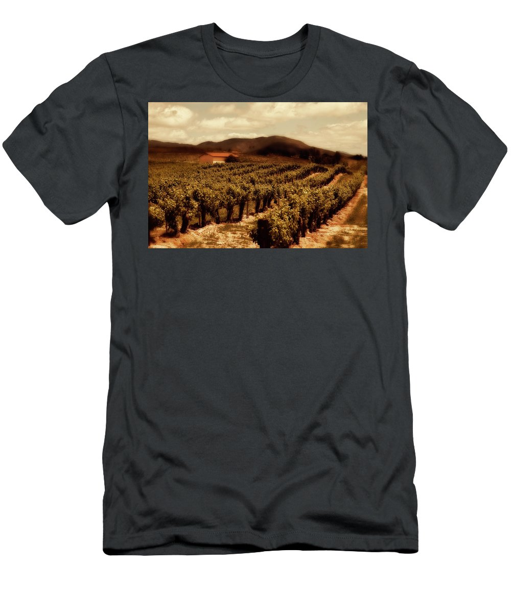 California Men's T-Shirt (Athletic Fit) featuring the photograph Wine Country by Peter Tellone