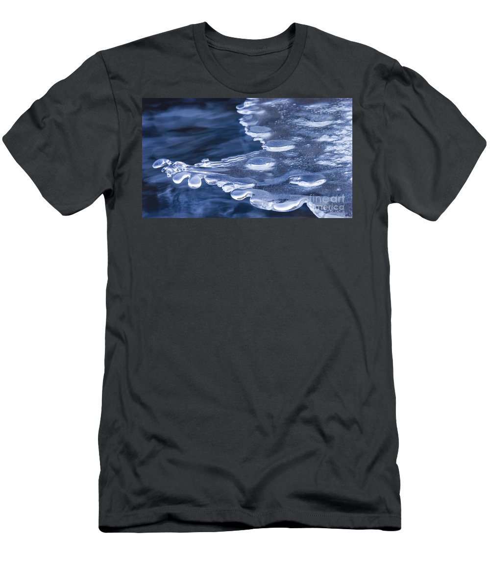 Ice Men's T-Shirt (Athletic Fit) featuring the photograph Winters Grip by Mike Dawson