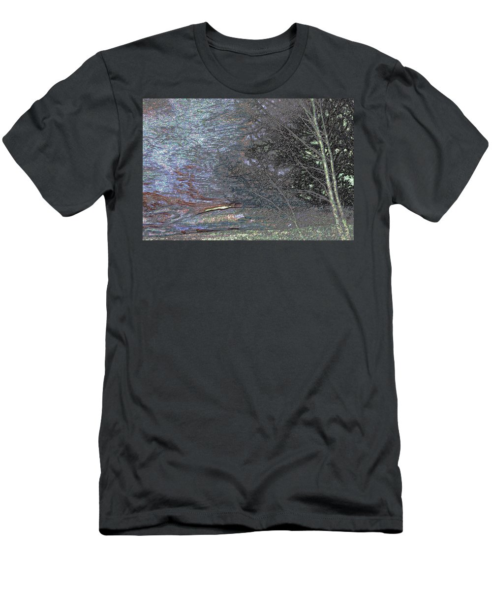 Abstract Men's T-Shirt (Athletic Fit) featuring the photograph Wyoming Sunset by Lenore Senior