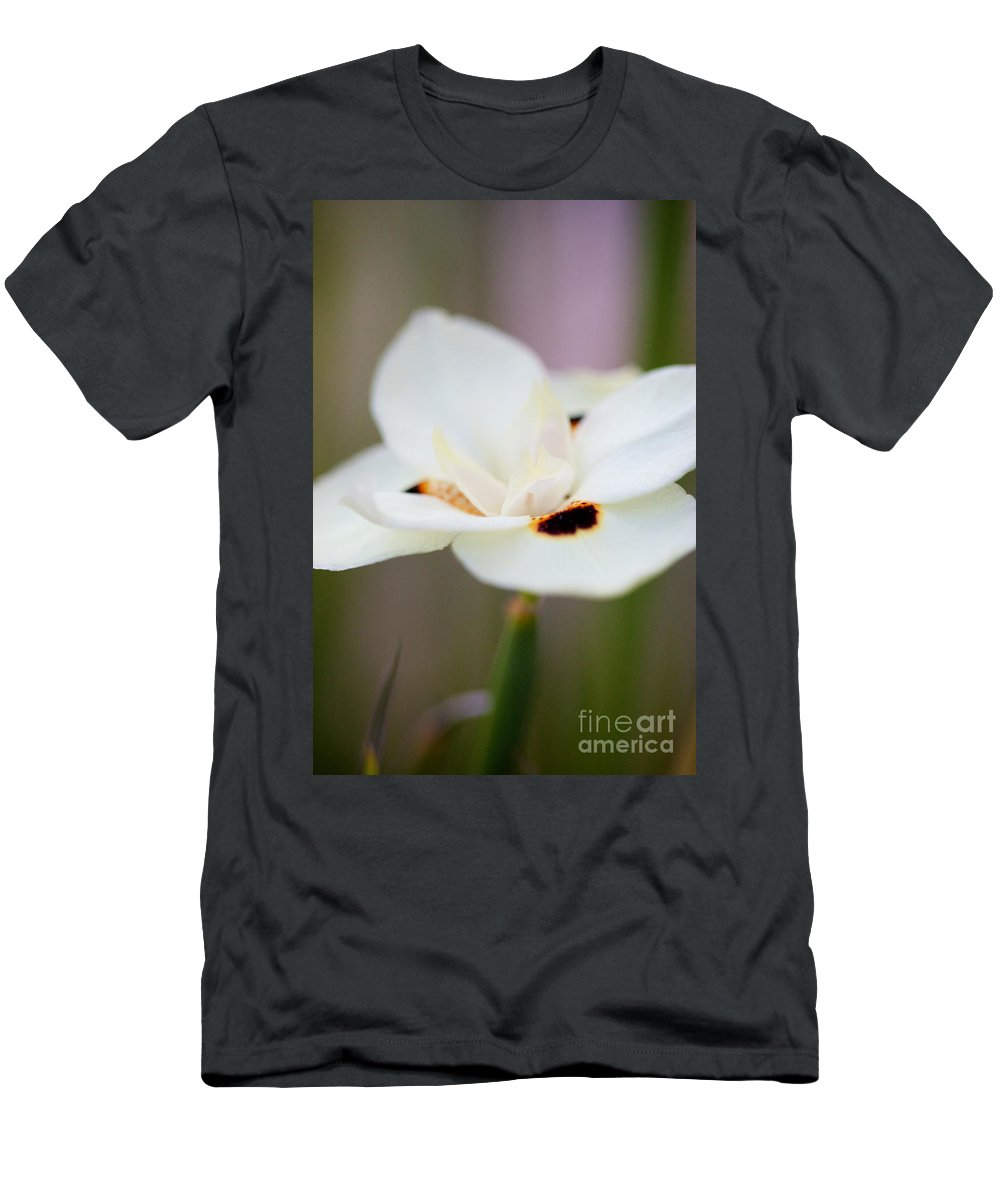 Yellow Flower Men's T-Shirt (Athletic Fit) featuring the photograph Yellow Wild Iris by Brooke Roby