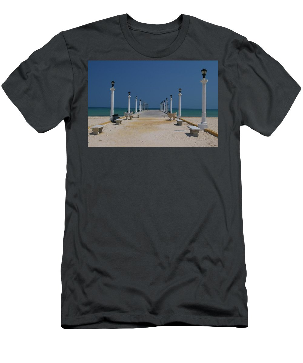 Mexico Men's T-Shirt (Athletic Fit) featuring the photograph Yukatan Dream by Christy Leigh