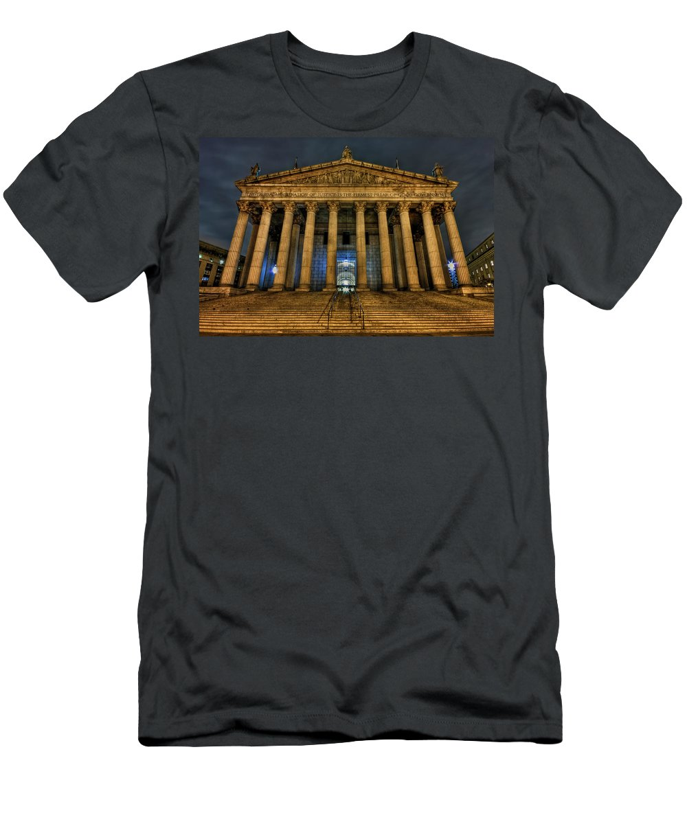 Architecture Men's T-Shirt (Athletic Fit) featuring the photograph ... And Justice For All by Evelina Kremsdorf